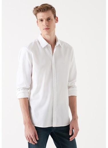 Mavi Cepsiz  Gömlek Beyaz